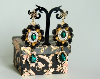 Earrings with Cameo Dolce Gabbana style - Classic