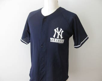 Vintage New York Yankees Baseball Jersey Adult Medium Small