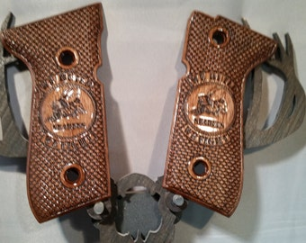 Fighting SEABEES engraved Beretta M9/92FS grips