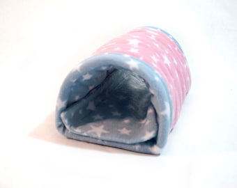 Guinea Pig Small Animal Fleece NUZZLE TUNNEL Tube Bed Cosy
