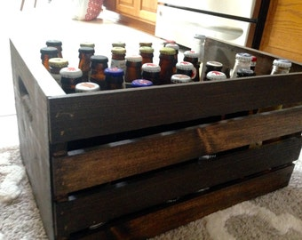 Handmade Wood Beer Crate | Beer Storage | Farmhouse | Primitive Decor