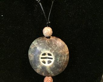 Custom Ceramic Bead Pendant Necklace