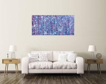 Modern abstract artwork in XXL by Alexander Zerr acrylic on canvas 70x150cm #646