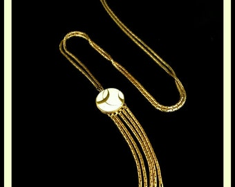 1970s Vintage Monet Tassel Necklace
