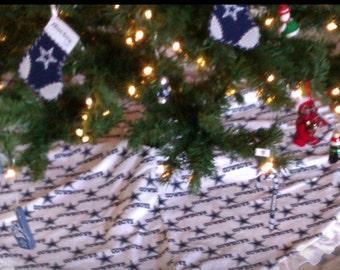 Dallas Cowboy christmas tree skirt