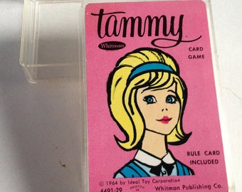 Vintage Tammy Doll Cards, Vintage Tammy Doll Card Game, Tammy Card Game