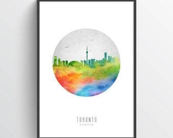 Toronto Skyline Poster, Toronto Cityscape, Toronto Print, Toronto Art, Toronto Decor, Home Decor, Gift Idea, CAONTO20P