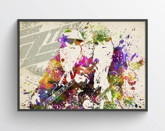 ZZ Top Poster, ZZ Top Art Print, ZZ Top Wall Art, Home Decor, Gift Idea