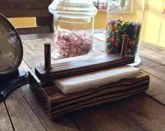 Napkin holder, rustic napkin box, wedding center piece, country living, kitchen table