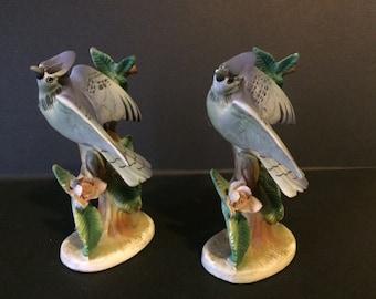 Vintage Bluejay Bird Figurines