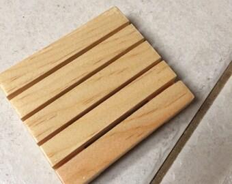 Wooden soap dish - soap dish drainer - pine soap dish