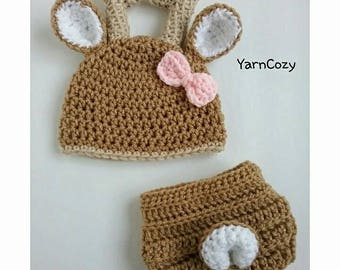 Baby Deer Outfit, Baby Deer Hat, Baby Girl Photo Outfit, Deer Costume,  Newborn Deer Outfit, Baby Shower Girl Gift, New Baby Girl Gift