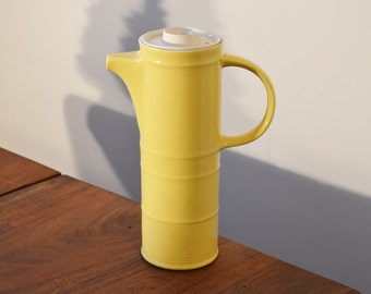 Brendan Erin Stone Irish Teapot, Yellow Ironstone Coffee Pot Pottery, made in Arklow Ireland