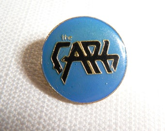 Vintage Early 80s - The Cars - Blue and Black Logo Enamel Pin / Button / Badge