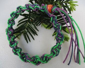 Green, Navy and Purple, Hemp Jewelry, Hemp Necklace, Hemp Bracelet, Hemp Anklet, Unisex Hemp Jewelry