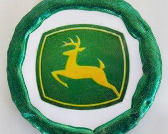 NEW!!! - John Deere Logo Magnet - Multi-Colored - Refrigerator Magnet