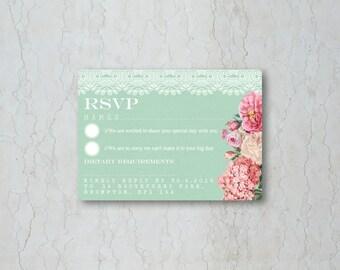 Floral Lace RSVP