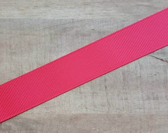 "7/8"" Ribbon by the Yard - Shocking Pink"