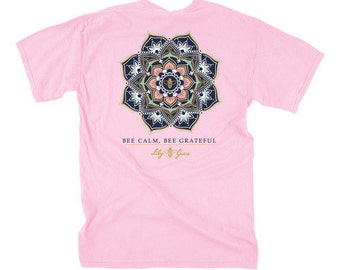 Bee Calm - Be Calm Pink - Adult T-Shirt - Lily Grace