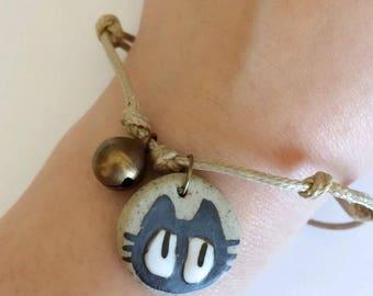 Kiki's delivery service Jiji Black cat charm friendship bracelet studio ghibli