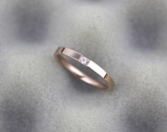 One & only silver / rose gold Ring
