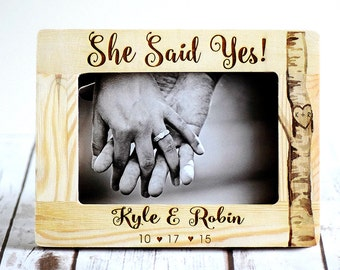 Engagement Gift, She Said Yes, Gift for couple, Engagement Frame, Engagement Gifts, She Said Yes! Wedding Gifts, Personalized Frame