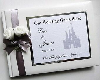 Disney Castle Personalised Wedding Guest Book