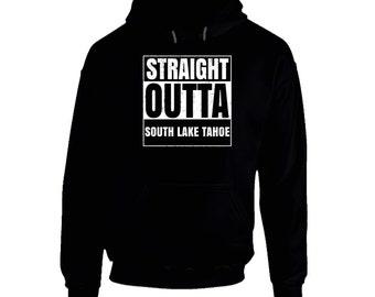 Straight Outta South Lake Tahoe California City Pride Parody T Shirt