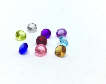 """Floating Charms, """"Kristall"""", 5 pieces 4 mm; 10 pieces 3 mm"""