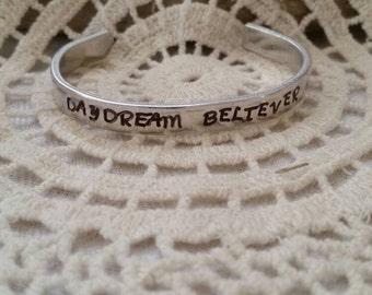 Daydream Believer Metal Stamped Bracelet