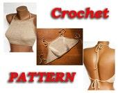 PATTERN Crochet top (all sizes of S, M, L, XL), Women Bikini Top,  Instant Download, DIY by LoveKnittings