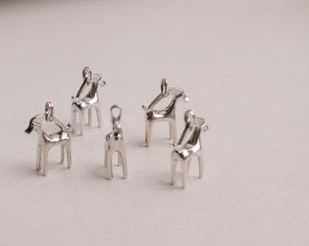Little deer / silver deer / silver pendant / brass pendant/ viking style