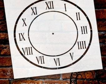 D'Anjou Clock Stencil - Select Size - SKU: STCL510