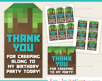 Thank You Favour Swing Tag Card Birthday Digital Printable Instant Download Favor