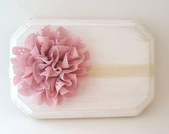 Blush Pink Baby Headband, Blush Headband, Mauve Headband, Newborn Headband, Baby Girl Headband, Dusty Rose Headband, Toddler Headband