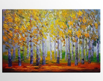 Oil Painting, Canvas Art, Large Art, Abstract Art, Abstract Painting, Landscape Painting, Abstract Art, Canvas Art, Wall Art, Tree Painting