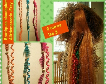 3 pins hair feathers