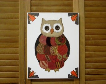 Small Owl #1 Fabric Wall Art