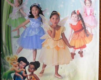 Simplicity 1792.  Disney Fairies.  Disney Fairies pattern.  Sizes 4-8 child.  Unused, uncut. Fairy Halloween costume.