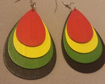 African Tear Drop Earrings