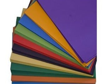Recycled A4 Intensive Colour Craft Card Mix 180gsm Ten Intensive Colour Card Stock Choose Quantity