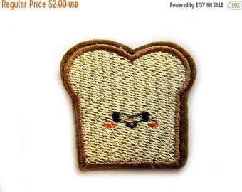 HALF PRICE Embroidered  Slice Bread Toast Appliqué
