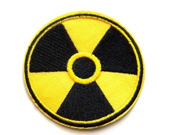 Radioactive Embroidered Patch Appliqué 3""