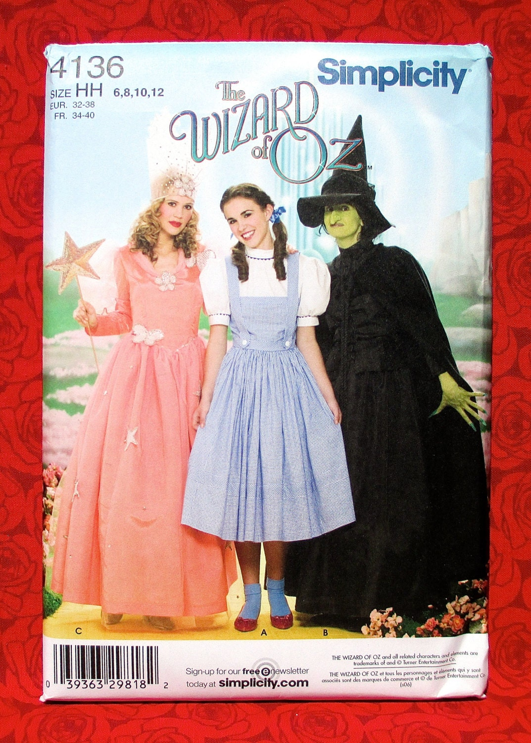 Wizard of Oz Costume Sewing Pattern Simplicity 4136 Dorothy Glinda ...