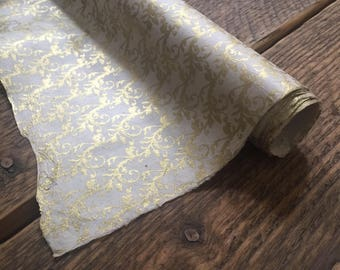 Gold Wrapping Paper ~ Wedding Gift Wrap ~ Lokta Paper ~ Handmade Paper ~ 70 x 50cm