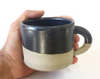 Handmade Black Stoneware Mug