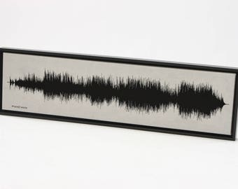 Piano Man - Sound Wave Band Poster Art Created from Sound Waves
