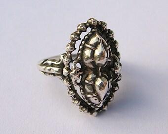 Vintage Dutch Silver Neo-Georgian Ring
