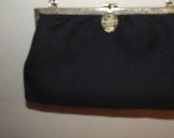 Vintage Handbag sale simple elegant   black purse evening prom wedding