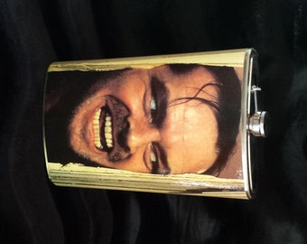 Jack Nicholson IS Jack Torrance in Stanley Kubrick's The Shining - MASSIVELY HUGE Incredible 64 oz stainless steel drinking flask Horror